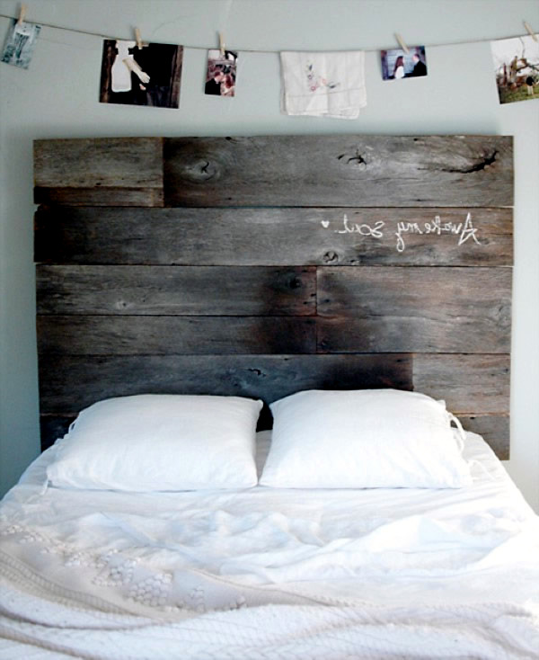 Rustic headboards to make your own interior design ideas Make your own headboard
