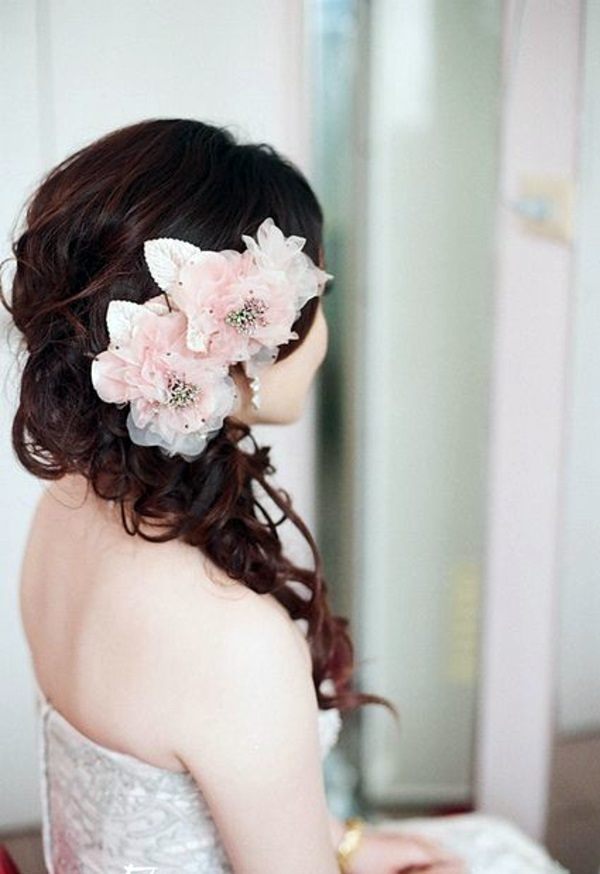 Bridal Hairstyle Half Open Come On In Style Under The Hood