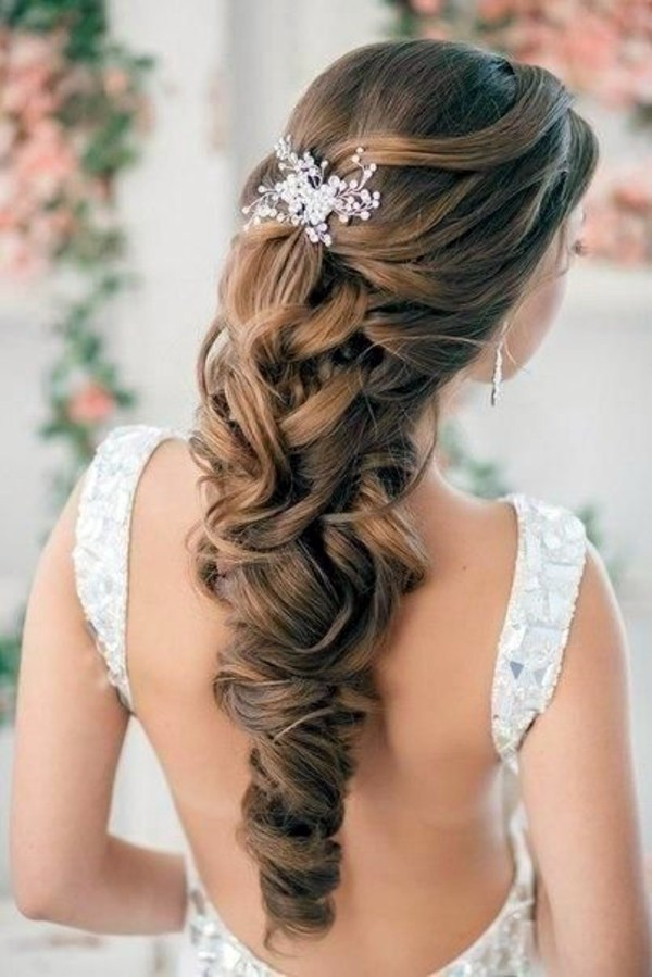 Bride Hair Style Bridal Hairstyle Half Open  Come On In Style Under The Hood .