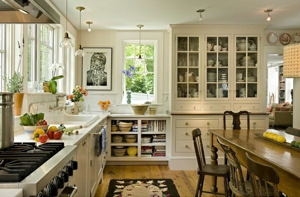 Traditional white country kitchen 15 cool interior for Interior design kitchen traditional