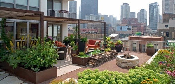Wooden Roof   Roof Terrace 50 Modern Garden Design Ideas