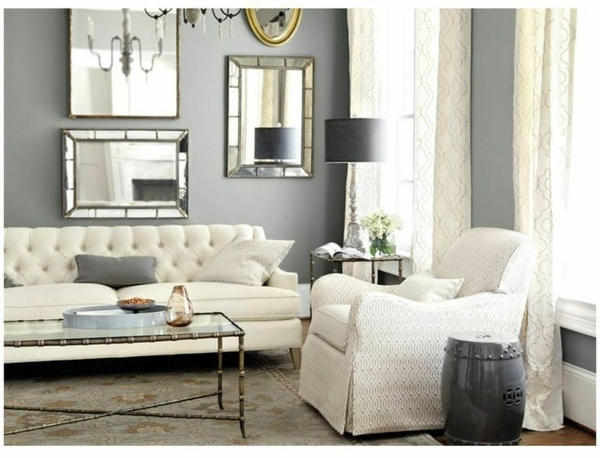 Mirrors Make Extra Money Effect Wall Color Is Silver As Light Within The Interior Design Design