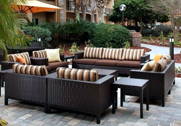 Lovely ... 20 Stylish Ideas For Outdoor Seating Area   A Comfortable Seating Area  In The Garden
