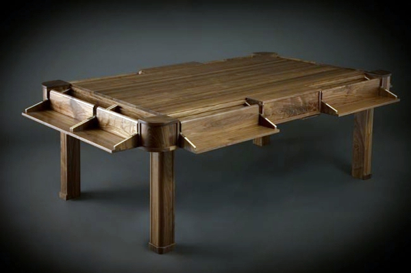 Extravagant, Dark Wood Texture Designer Game Table From Geek Chic Combines  Customization And Elegance