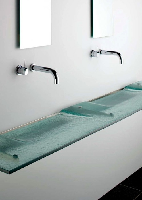 Linea glass sink from Omvivo 10 cool ideas for modern bathroom sink - great  and great sink designs