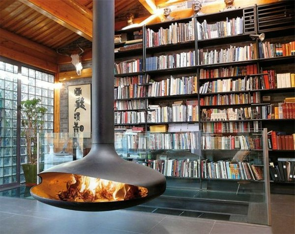 Hanging stove modern luxury fireplaces interior design for Luxury stove brands