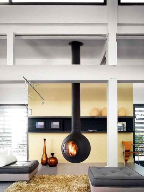 Hanging Stove Modern Luxury Fireplaces