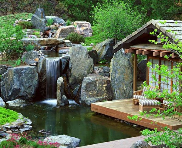 creating a garden pond pictures and ideas for creative. Black Bedroom Furniture Sets. Home Design Ideas