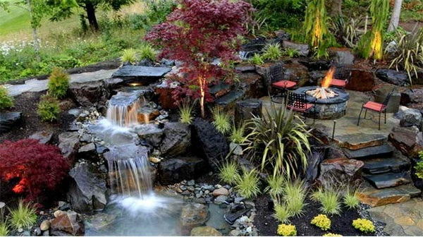 Creating a garden pond pictures and ideas for creative for Creating a pond