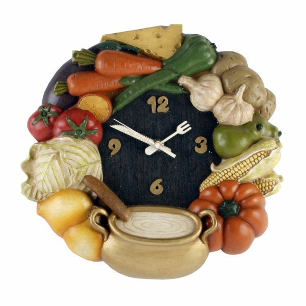 kitchen clocks designs that stimulate the appetite interior