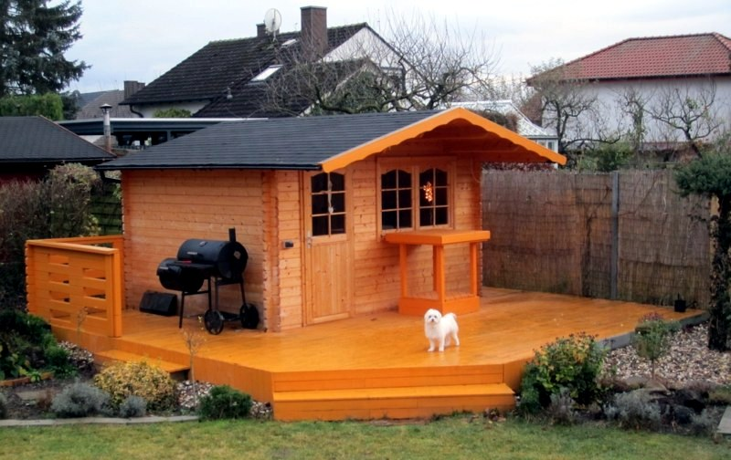 gartenzubehr with a wooden garden shed it is romantic