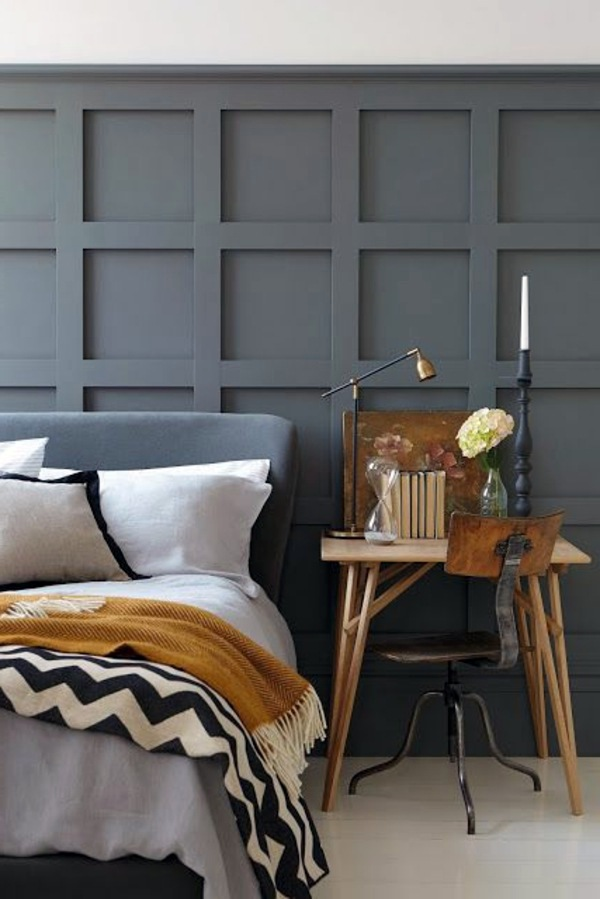30 interior design ideas for wall paint in shades of gray trendy color design interior. Black Bedroom Furniture Sets. Home Design Ideas