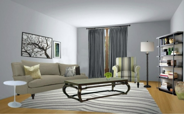 Virtual Room Planner 30 Interior Design Ideas For Wall Paint In Shades Of Gray