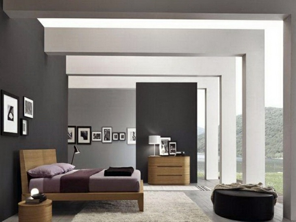 30 interior design ideas for wall paint in shades of gray Shades of gray for living room