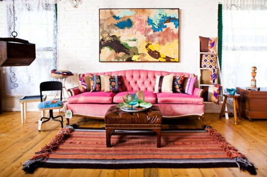 Color design and colorful interior design ideas – Pink in use ...