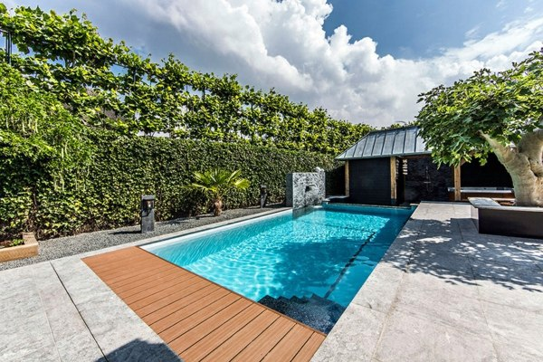 Swimming pool garden  Spa facilities and swimming pool in the garden | Interior Design ...