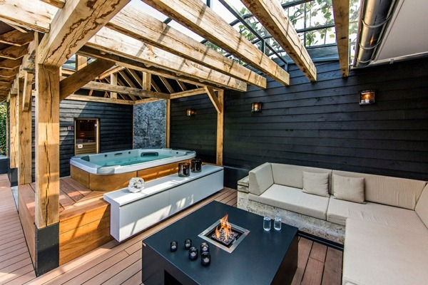 The Rustic Wooden Beams Act Here Spa Facilities And Swimming Pool In The  Garden