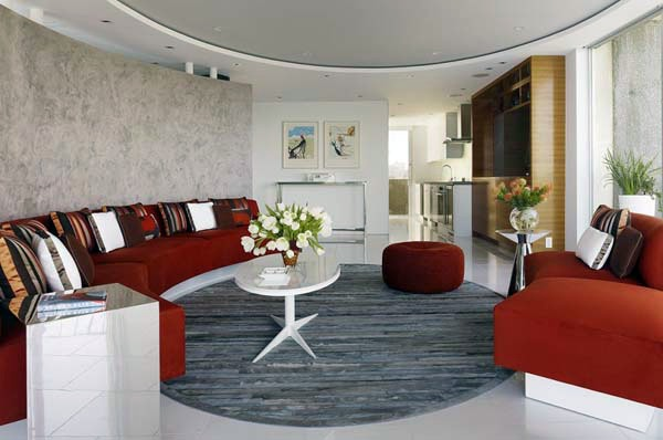the circular living room design for the modern home | interior ...