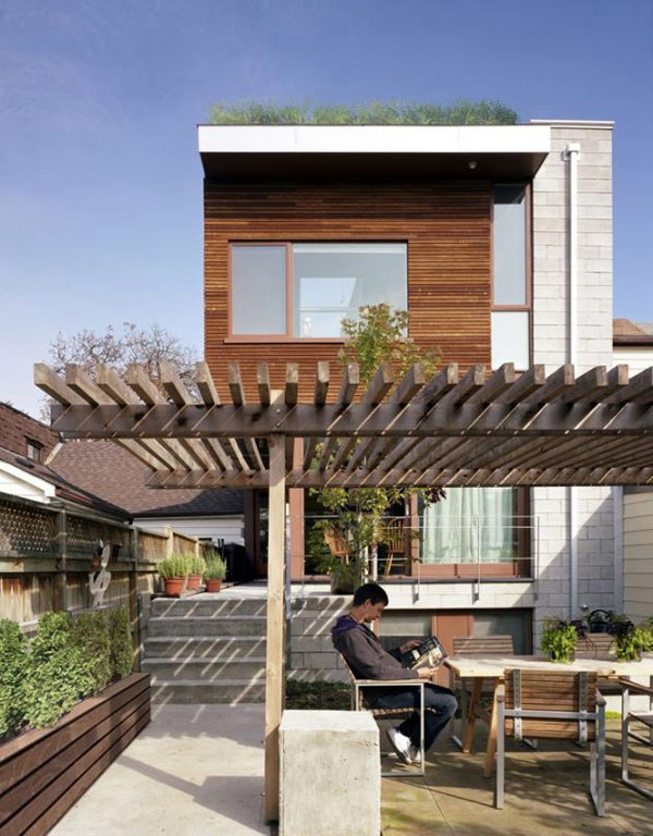 Cool garden design idea green oasis on the roof terrace Home plans with rooftop deck