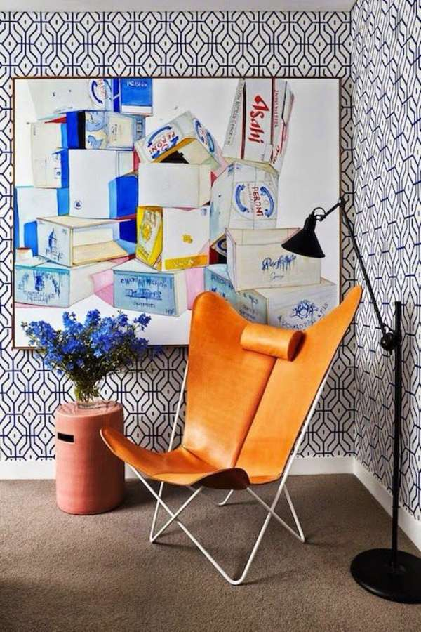 Tapeten   Living Room Wall Design Ideas   Cool Examples Of Wallpaper Pattern