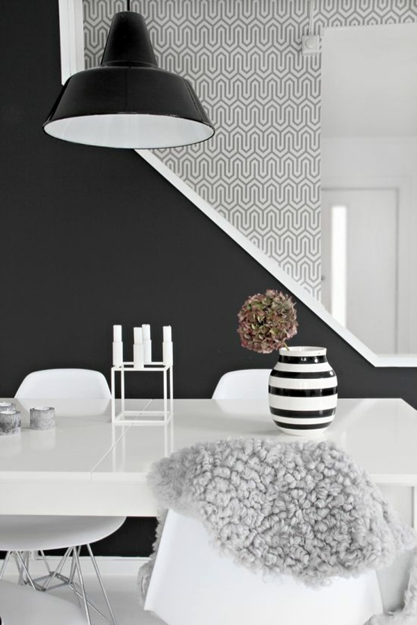 Living room wall design ideas - cool examples of wallpaper pattern