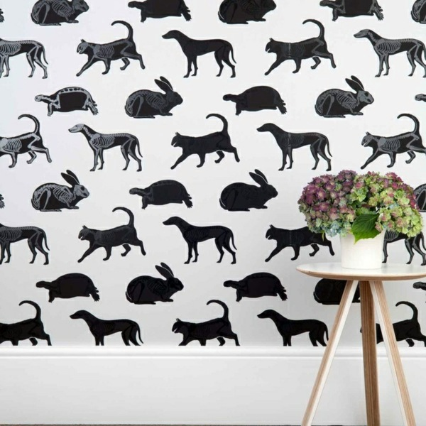 Dog Wallpaper For Walls living room wall design ideas – cool examples of wallpaper pattern
