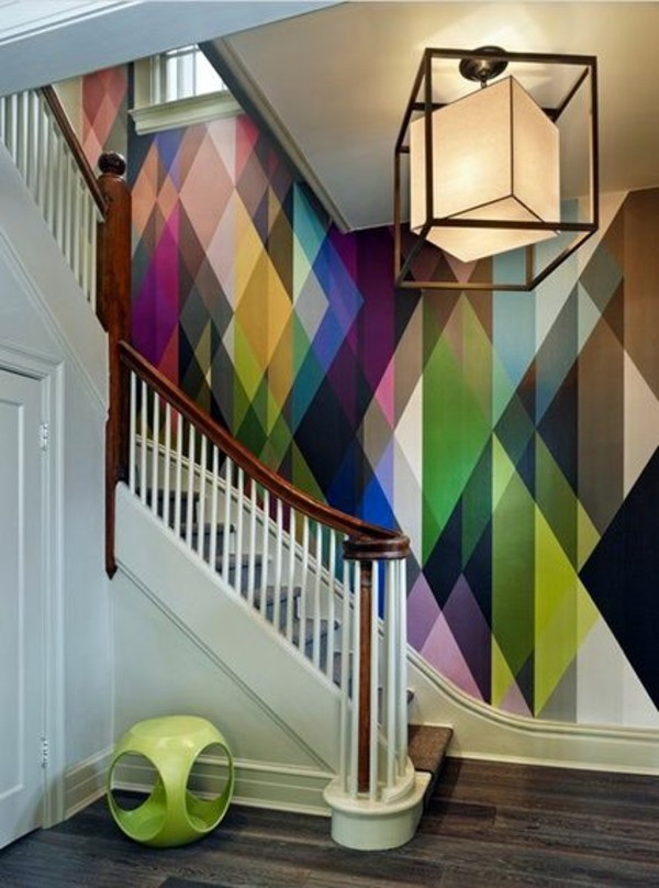 ... Living Room Wall Design Ideas   Cool Examples Of Wallpaper Pattern
