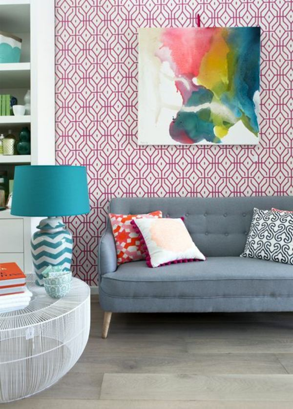 Living room wall design ideas cool examples of wallpaper for Sample wallpaper for living room