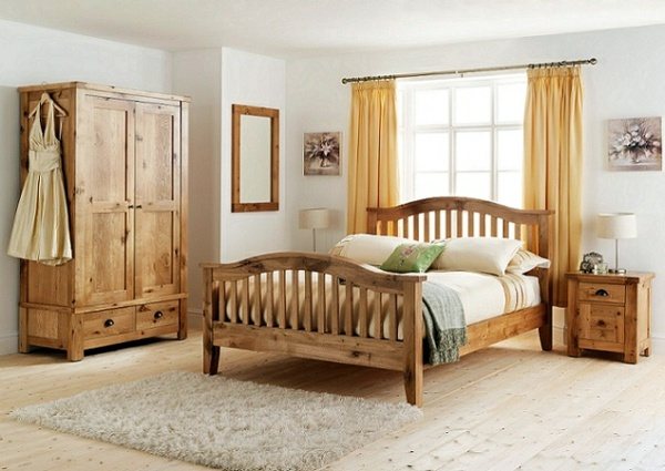 Wood furniture for a beautiful bedroom design interior for Bedroom ideas oak bed