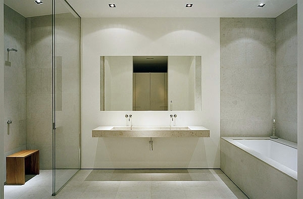 View Minimalist Contemporary Bathroom With Bath Equipped Wandfliesen   Bath  Tiling   Install Bath And Dress