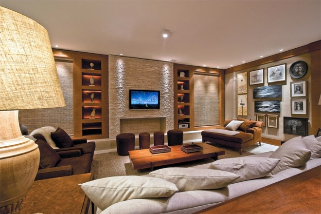 Living Room Suit. The natural materials and earth tones Wohnzimmer Ideen  Modern living wall 8 inspiring examples to follow suit