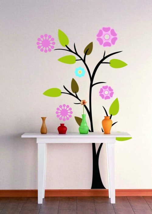 Wall Stickers Ideas Part - 42: ... Wall Decoration With Wall Decal - 70 Beautiful Ideas And Designs