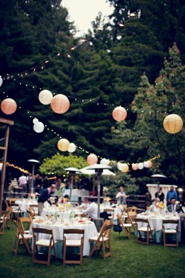 40 garden ideas for your summer party decoration for Backyard engagement party decoration ideas