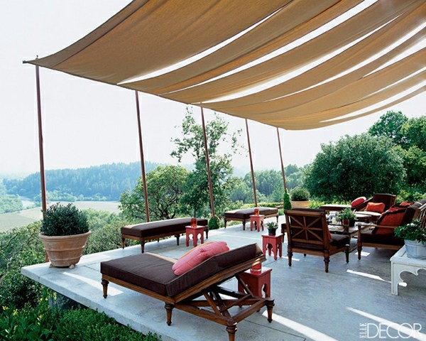 Decoration In The Outdoor Area With Canopy Great Idea