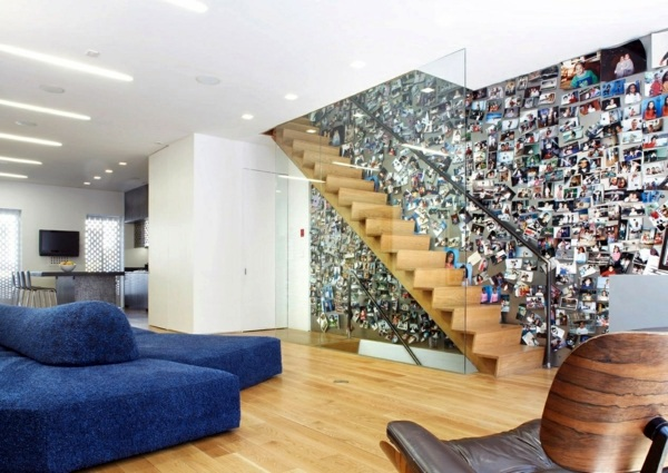 Huge Collection In The Stairwell Painting Walls 35 Interior Design Ideas For Amazing Wall Decoration