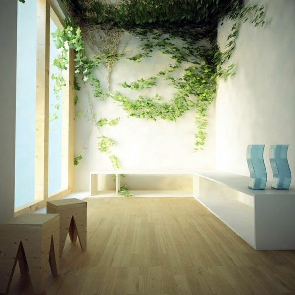 vines as wall decor painting walls 35 interior design ideas for amazing wall decoration - Inside Wall Design