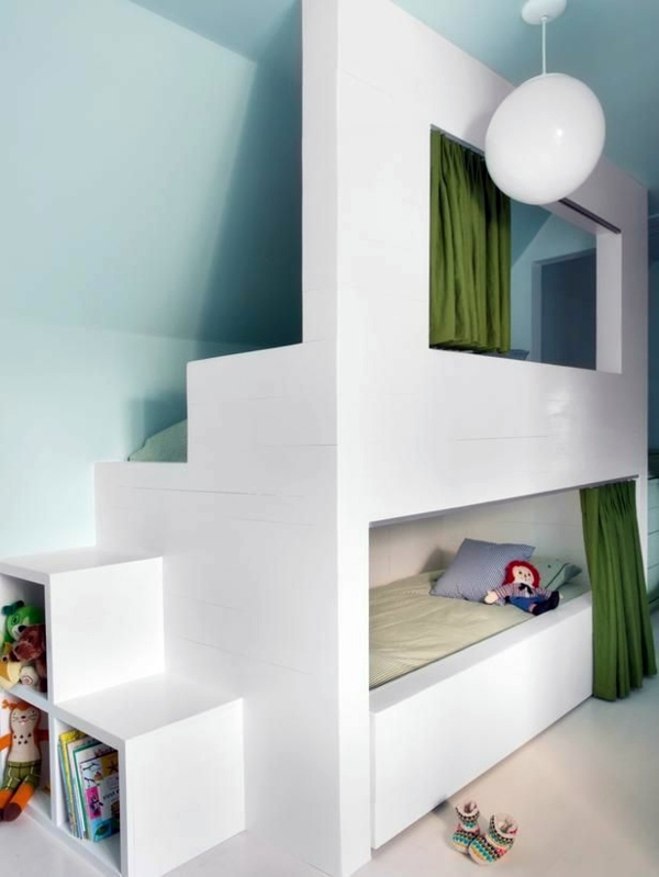 White Bunk Bed With Storage 125 Great Ideas For Childrenu0027s Room Design