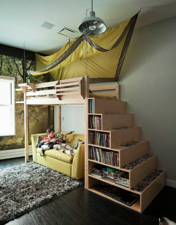 Stairs With Storage Room 125 Great Ideas For Childrenu0027s Room Design
