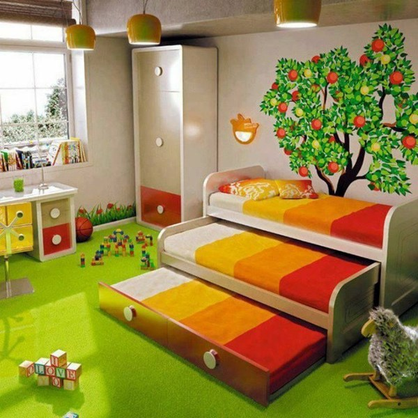 Beau Bed Three Levels Kinderzimmer Gestalten   125 Great Ideas For Childrenu0027s  Room Design