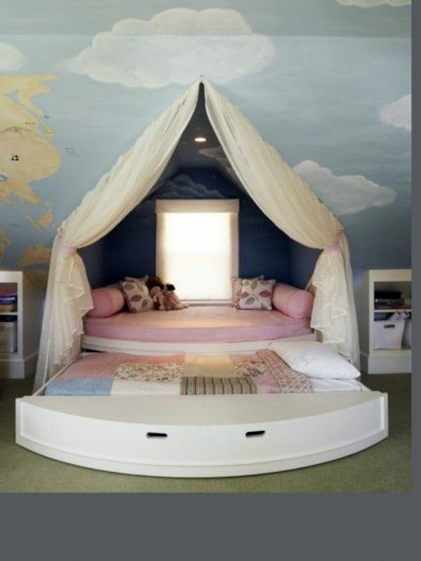 Clouds Above The Bed Tent 125 Great Ideas For Childrenu0027s Room Design
