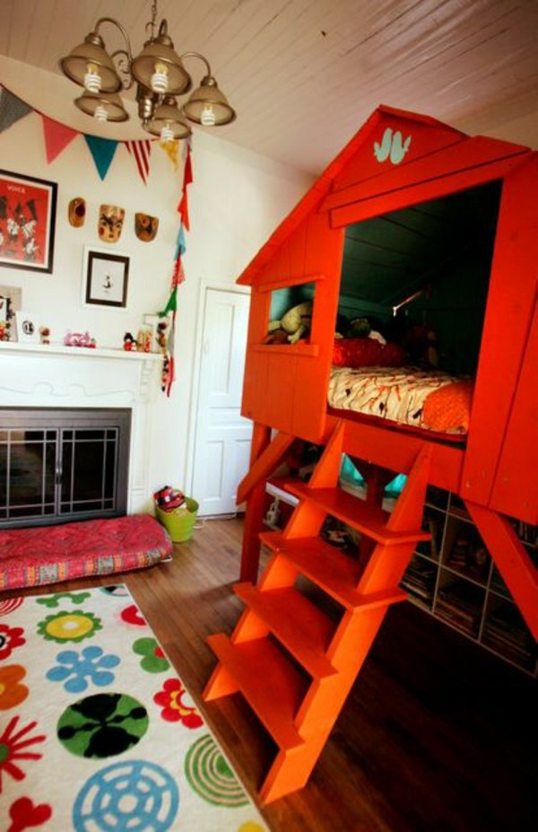 Tree House As A Bed 125 Great Ideas For Childrenu0027s Room Design