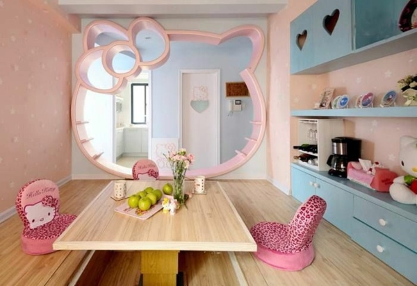 cat mirror 125 great ideas for childrens room design - Cat Room Design Ideas