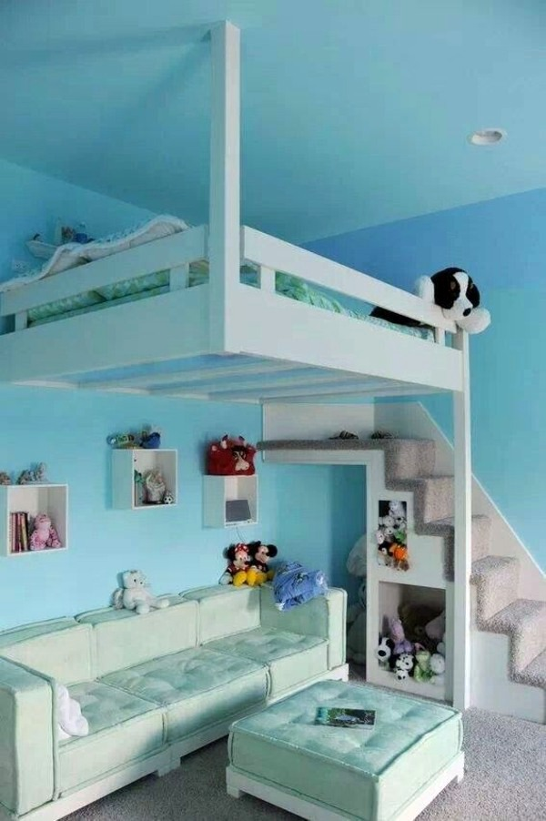 Bed Under The 125 Great Ideas For Childrens Room Design
