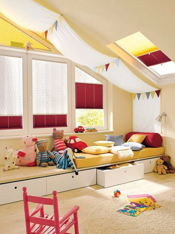 Superior White   Red Awnings 125 Great Ideas For Childrenu0027s Room Design