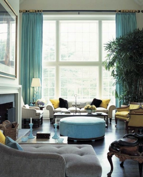 coastal scenery and turquoise colors color ideas for living room lively atmosphere in every home - Modern French Living Room Decor Ideas 2