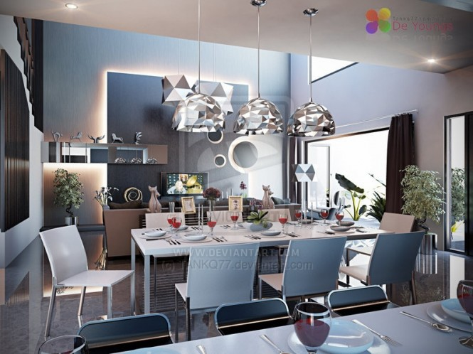 cool and exciting dining room designs in white interior a few inspiring ideas for a modern dining room d 233 cor