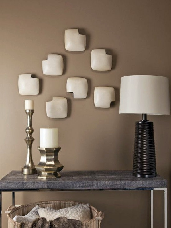 Colors are light brown and appear larger living room Wall color Mocca -  swipe your walls in a coffee-brown color