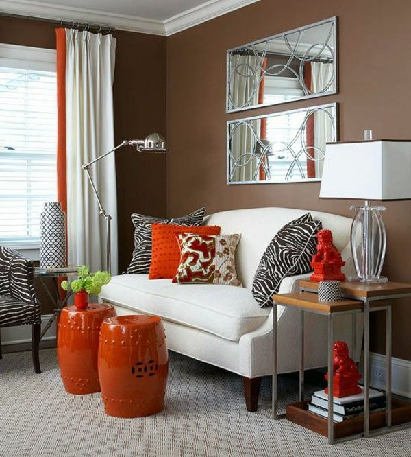 Brown And Orange Is A Mixture Of Successful Color Wall Color Mocca   Swipe  Your Walls In A Coffee Brown Color