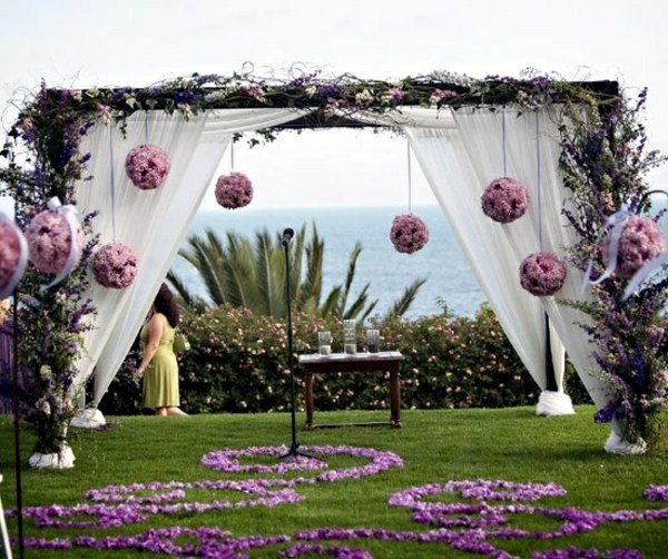 Wedding decor with floral decoration cool wedding for Decorating for outdoor wedding