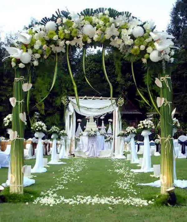 Wedding Ideas Outdoor Wedding Altar: Wedding Decor With Floral Decoration